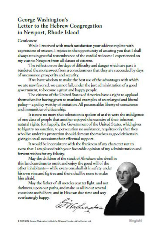 George Washington's Letter - Transcript