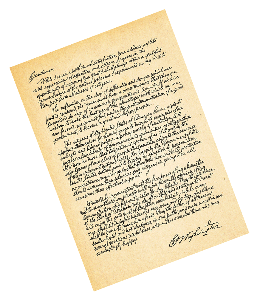 George Washingtons Letter to the Jewish Community of Newport Rhode Island