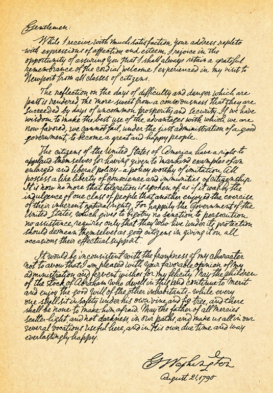 George Washington's Letter Letter - Archival Image